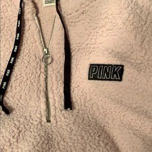 PINK sherpa hoodie